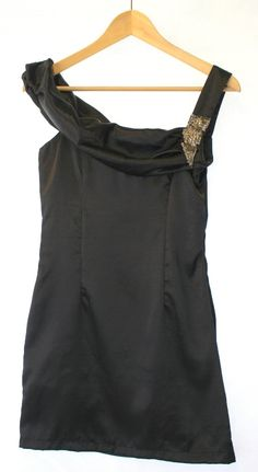 #fashion #style Black Silk Designer Dress Size 8 – £6.99 ClothesShack