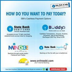 SBI's cashless payment options are here to save the day. Take your pick.