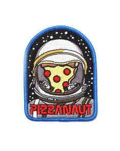 Pizzanaut Patch – Strange Ways Cute Patches, Pin And Patches, Iron On Patches, Biker Patches, Embroidery Patches, Diy Embroidery, Embroidered Patch, Stuff And Thangs, Fabric Patch