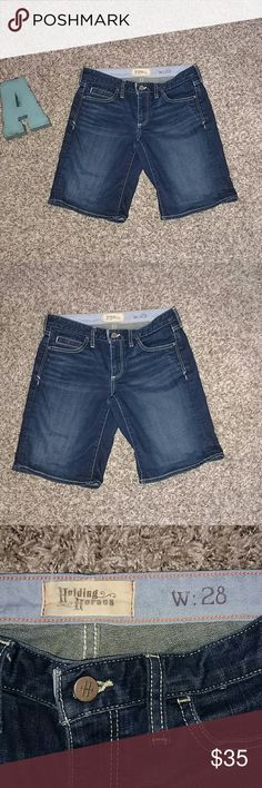 """Holding Horses Denim Shorts Anthropologie Shorts. Brand is Holding Horses. Brand new. Style is called Boy Shorts. Size 28 Inseam 10"""" in length Anthropologie Shorts Jean Shorts"""
