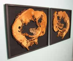 virginiabirchfieldinteriors.com  Hanging mounted wood slices