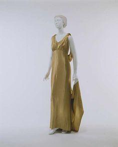 Madeleine Vionnet | Evening dress | French | The Met, c. 1933