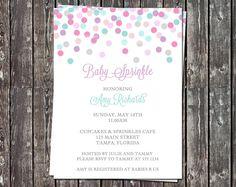 Confetti Baby Sprinkle or Baby Shower by TheInviteLadyShop on Etsy, $8.00