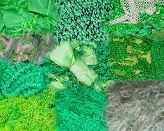 Verdes: lanas, cintas y tules