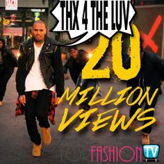 #ChrisBrown Says THANKS 2 Fans 4 Being TOTALLY #LOYAL & Celebrates 20 Million Views - CHECK HERE!!!