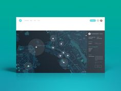 png by Peter Main ✖︎ Helium Map Dashboard User Interface Dashboard Design, Social Media Dashboard, Dashboard Ui, Layout Design, Interaktives Design, Flat Design, Web Layout, Site Design, Gui Interface