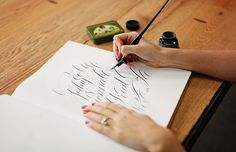 Illustrator and Letterer Molly Jacques // caligraphy // photography by Ashley Slater Photography // @Molly Jacques