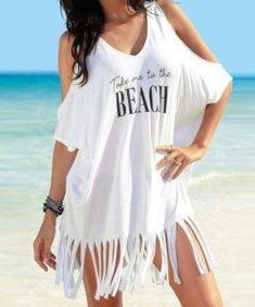 casual 2019 ladies Party black White Summer Dress Womens Tassel Letters Print Baggy Beach Dress - Pothead Clothing - Women's Clothing Store in Cape Town offers online shopping for women, from dresses to bikinis, rompers, lingerie and more. Plus Swimwear, Bikini Swimwear, Bikini Cover Up, Swimsuit Cover Ups, Elizabeth Taylor, Cute Cover Ups, Smocks, Swimsuit Material, White Dress Summer