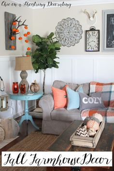 farmhouse decor to last all season by chic on a shoestring decorating
