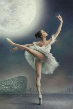 Ballerina met maan love it!