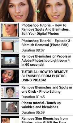Learn how to edit photo blemishes whether your photo is on your smartphone or<br>on your computer. You will learn the secrets to making your photo super beautiful like a pro.<br>To best views the videos please view the videos horizontally on your phone<br>These are a sampling of the how to videos available on this free app, enjoy.<p>-Remove red-eye and blemishes. Air-brush for a smoother skin-tone. Use Citrify to bring out your natural beauty without damaging the integrity of your…
