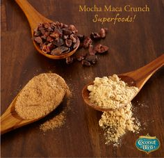Cacao Nibs, Maca and Mesquite... so much goodness packed into each and every pint of Mocha Maca Crunch!