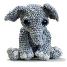 Tilly the Elephant amigurumi pattern by Patchwork Moose (Kate E Hancock)