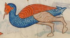 Detail from The Luttrell Psalter, British Library Add MS 42130 (medieval Medieval Manuscript, Medieval Art, Illuminated Manuscript, Bayeux Tapestry, British Library, Western Art, Middle Ages, Natural History, Renaissance