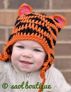 Crochet Pattern for Resale  Tiger Hat by SAOL on Etsy, $3.50