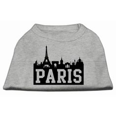 Mirage cat Products 16-Inch Paris Skyline Screen Print Shirt for cats, X-Large, Grey ** Awesome cat product. Click the image : Cat Apparel