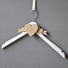 personalised engraved wedding dress hanger by clouds and currents | notonthehighstreet.com