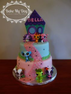 Littlest pet shop cake -