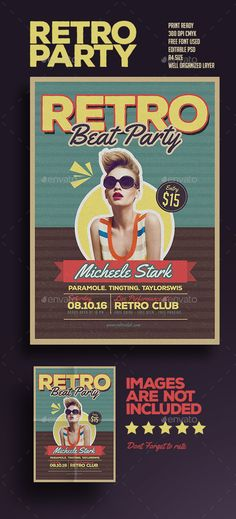 Retro Beat Party  #dj #dubstep #event • Available here → http://graphicriver.net/item/retro-beat-party/15660304?ref=pxcr