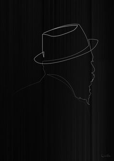 One line Thelonious Monk Art Print