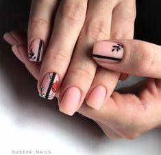 Nail art Christmas - the festive spirit on the nails. Over 70 creative ideas and tutorials - My Nails Minimalist Nails, Stylish Nails, Trendy Nails, Love Nails, Fun Nails, Matte Nails, Acrylic Nails, Coffin Acrylics, Cool Nail Designs