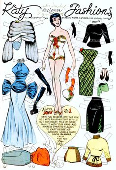 Katy Keene. Reminds me of the paper dolls my mom use to draw for us when we were kids.