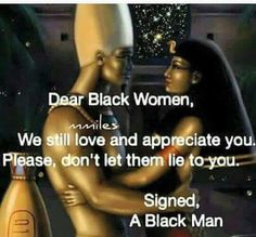 Dear black women,