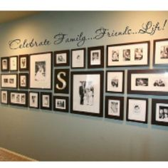 Family picture wall for family room