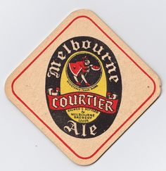 """Courtier Ale"" beermat issued by Melbourne Brewery, Leeds, West Yorkshire - 1950s"