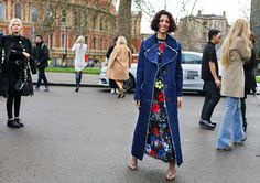 Yasmin Sewell in Gucci shoes. London's Fall Fashion Week, Feb 2016
