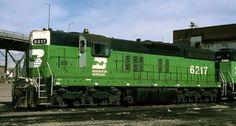 (SD9).  Burlington Northern  #6217 - EMD SD9
