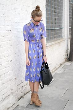 Vintage Style Floral Dress from THE WHITEPEPPER
