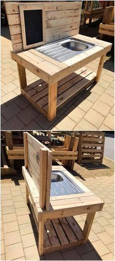 This is yet another one of the best ideas of using the wood pallet into some useful concepts. In this wood pallet idea you will search out the attractive styling of the sink. You can use this sink in any portion of the house no matter whether it is indoor or outdoor.