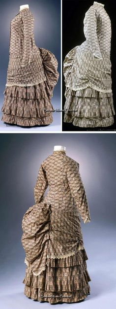 Day dress ca. 1883-86. Cotton print with lace trim. Photo: Anna C. Wagner…