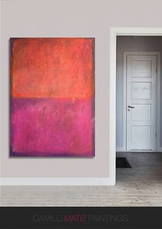 Titel: Magenta & Oranje Techniek: Acrylverf op doek Grootte: Breedte: hoogte: 31,5(80cm) x 47.2 (120cm) dikte: 1.5(3,8 cm)  -------------------------  Dit is een van een soort schilderij, gemaakt en geschilderd door mij. Al mijn werk is ondertekend aan de achterkant en label. ------------------------- Verzending: standaard postdienst 5-10 dagen levering)  -------------------------  KAMER VIEWS MOGELIJK NIET OP SCHAAL. Alle fotos op deze site probeert te geven een visuele aanduiding de…