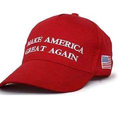 5f67d76f03d61 Make America Great Again Hat MAGA Donald Trump Slogan with USA Flag Cap  Adjustable Baseball Hat Red