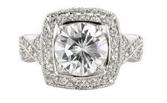 White Gold Bonded 11.0ct Lab Diamond Royal Cushion Filigree Engagement Ring