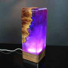 Galaxy decor resin and wood decor ambient night light resin table decoration resin night light one of a kind decor unique night light Wood Resin, Resin Art, Resin And Wood Diy, Lampe Decoration, Table Decorations, Galaxy Decor, Galaxy Art, Unique Night Lights, Galaxy Lights