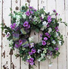 Cream and Fuchsia Summer Wreath/Ver16