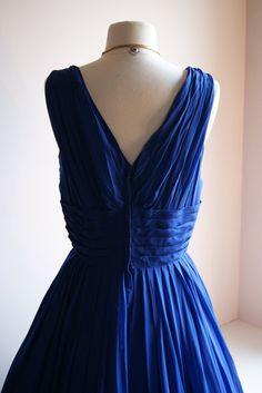 50s Dress // Vintage 1950s Miss Elliette Chiffon by xtabayvintage