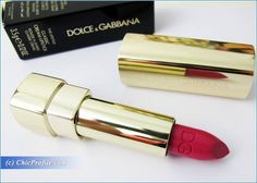 Dolce and Gabbana Shocking Classic Cream Lipstick Review, Swatches, Photos