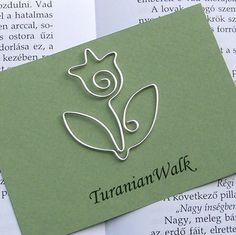 Tulpe als Kartenmotiv, Draht-Lesezeichen von TuranianWalk auf Etsy