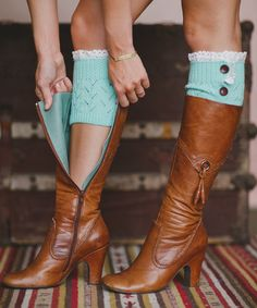 Great boot cuffs. Love the color.