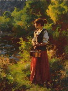 Summer - Mike Malm-Taking it Fantasy Paintings, Paintings I Love, Figure Painting, Painting & Drawing, Portrait Art, Portraits, Malm, Art Background, New Artists