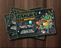 http://thepodomoro.com/collections/birthday-invitation/products/black-design-minecraft-birthday-invitation