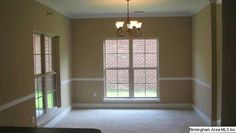 casual dining room | Dining room can be casual or formal has crown molding and chair rail