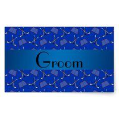 Groom gifts blue hockey pattern stickers