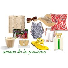 amour de la provence, created by #hidden-fashionista on #polyvore. #fashion #style Mara Hoffman Tory Burch