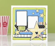 Movie night layout #Cricut