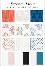 Kelly Market: SERENA AND LILY'S NEW WALLPAPER COLLECTION